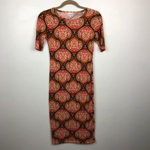 LuLaRoe XXS Julia Bodycon Dress  - EUC